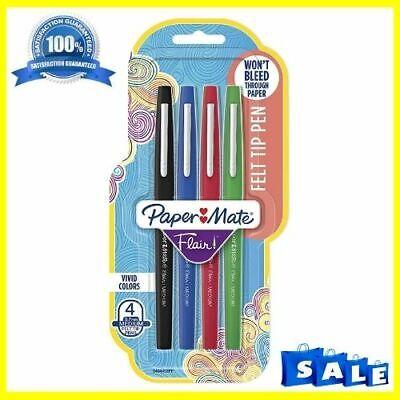 Paper Mate Flair Felt Tip Pens Medium Point 0.7mm Business Colors 4 Count