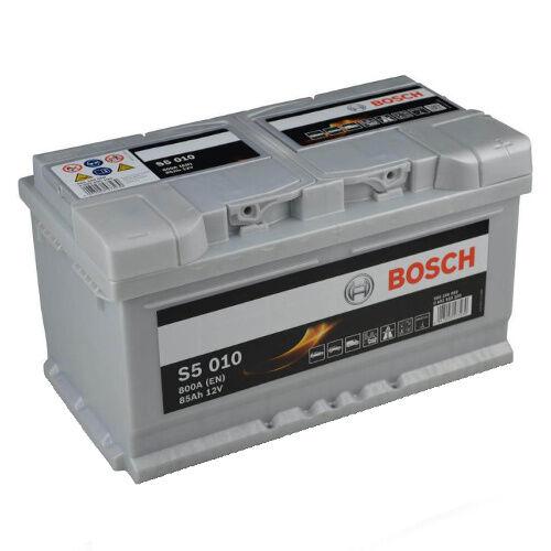 BOSCH S5 010 85Ah PREMIUM Car battery Starterbatterie Silver PLUS NEW