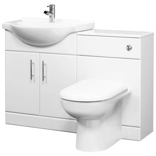 Toilet basin vanity units ebay for Bathroom sink and toilet units