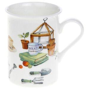 Chalet jardin tasse en porcelaine fine pays a th me cadeau - Cadeau pour jardinier ...