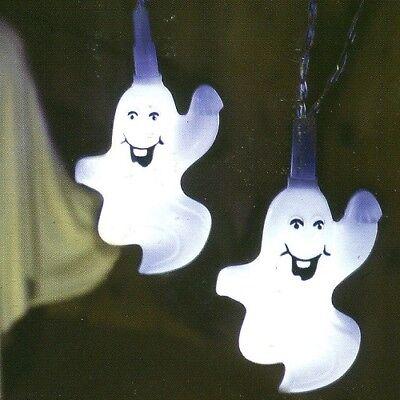 LED Halloween Lichterkette Geist / Ghost 8er Best - Led-halloween