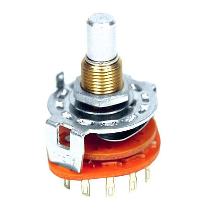 Alpha 12 Position, 1 Pole Rotary Switch, Make Before Break