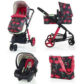 Cosatto Giggle 2 Flamingo Fling still in warranty!!, travel system, CAN DELIVER