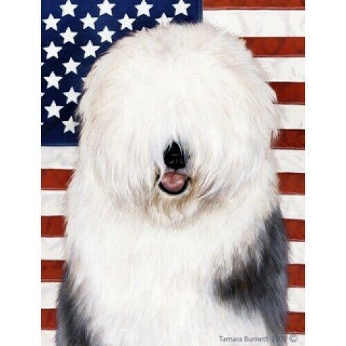 Patriotic (D2) House Flag - Old English Sheepdog 32129