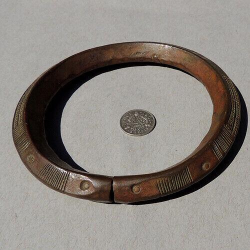 an old antique copper african bracelet dogon mali #169