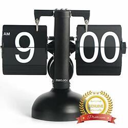 MIDCLOCK Flip Clock, Home Décor Desk Clock, Retro Auto Flip Down Clock, Vinta