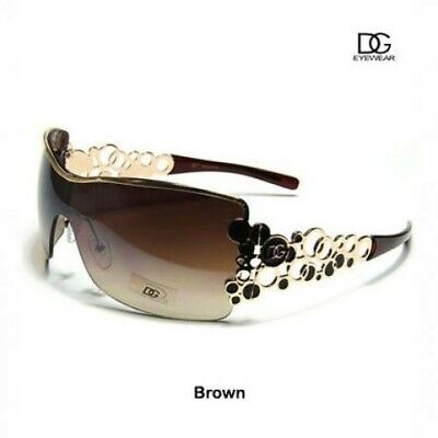 Womens Sunglasses 100% UV Brown Metal Fashion Eyewear by (Dg Womens Sunglasses)