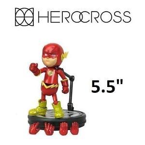 "NEW HEROCROSS THE FLASH FIGURATION - 118665609 - DC COMICS JUSTICE LEAGUE HYBRID METAL 5.5"""