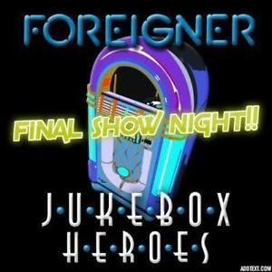 LAST SHOW★Jukebox Heroes - A Tribute To Foreigner★SUN Aug 19th