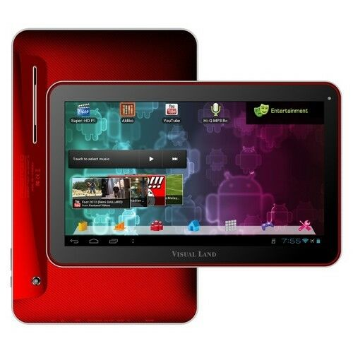 """Visual Land Prestige 10"""" Android Tablet Me 110 16GB Red with 16GB Internal"""