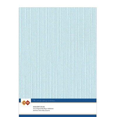 (EUR 4,81/m²) Leinenkarton 10xA4-Bogen babyblau 27