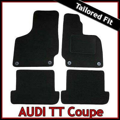 Audi TT Coupe Mk2 2006 2014 Tailored Fitted Carpet Car Floor Mats BLACK