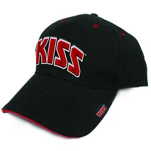 KISS-Red-on-White-Logo-German-Market-Official-Baseball-Cap-NEW