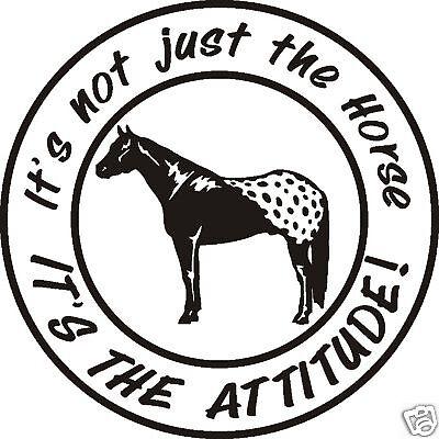 novelties gifts decal horse 2 trainers4me Fiberglass Horse Trailer lg appaloosa attitude horse trailer decal rope saddle
