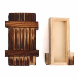 Magic Puzzle Box Wooden Secret Mini Compartment - New.