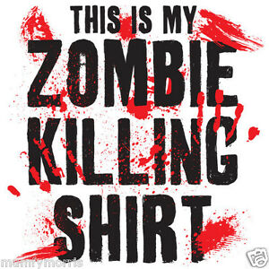 this is my zombie killing shirt iron on t shirt transfer A5