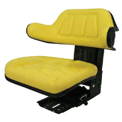 Yellow Wrap Back Tractor Suspension Seat John Deere 1020 1530 2020 2030 We
