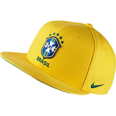 Nike Men's Core Brazil Football Soccer Snapback Adjustable Hat Cap - NWT 686243
