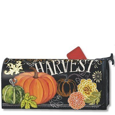 Magnet Works Harvest Fall Pumpkin Original Magnetic Mailbox Wrap Cover