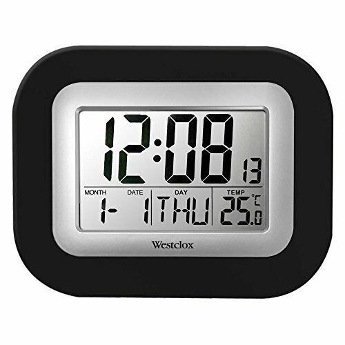 Westclox 9 in. Digital Wall Clock, Gray