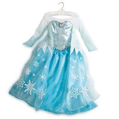Authentic DISNEY STORE Halloween Costume ELSA from Frozen 4 or 9 10  fast ship](Elsa From Frozen Halloween Costume)