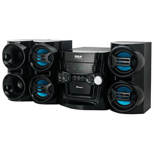 New RCA Audio RS3965SB 500 Watt Bluetooth Mini Stereo System 5 CD Changer/Radio