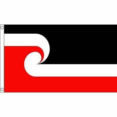 New Zealand Maori Flag Large 5 x 3 FT - 100% Polyester - Rugby 2019