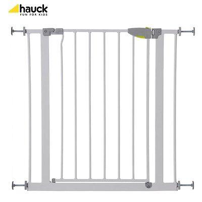 HAUCK Türschutzgitter Squeeze Handle Safety Gate Türen-Schutz NEU weiß