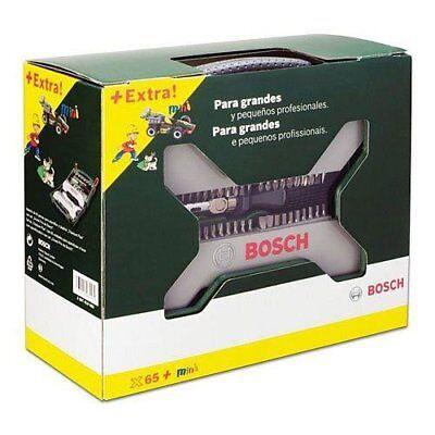 Set atornillador Bosx Ixoland+destornillador carraca con 65 piezas