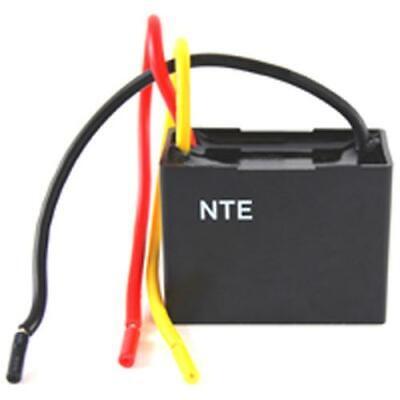 NTE CFC-2/4, 2uF + 4uF @ 125/250V AC, Dual Ceiling Fan Capacitor