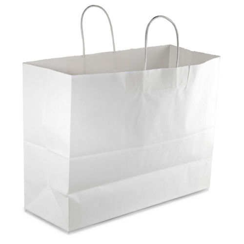 "White Paper Shopping 250 Bags 16"" x 6"" x 12 ½"" (Vogue) Retail Merchandise Gift"
