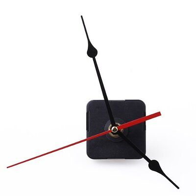 6168S Clock Movement Black Hour Minute Red Second Hand DIY Tools Set LW New