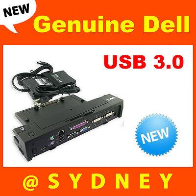 NEW Dell E-Port Plus Advanced Port Replicator II /w USB 3.0 & 240W Power Adapter