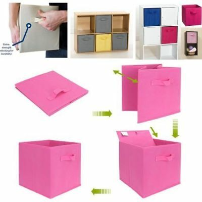 Foldable Storage Bin Closet Toy Box Container Organizer NEU Linen Fabric Y1S5