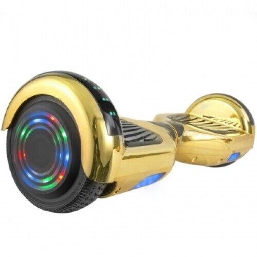 AOB Scooter Board in Gold Chrome with Bluetooth Speakers