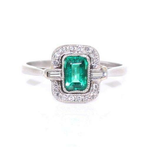 emerald and cluster ring ebay