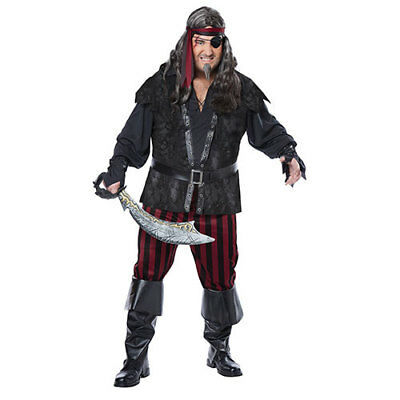 Mens Ruthless Rogue Halloween Costume Plus Size 48-52](Plus Size Men Halloween Costumes)