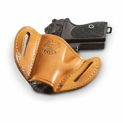 380 Leather Belt Slide Holster - Bulldog Tan Molded Leather Belt Slide Holster BERSA 380