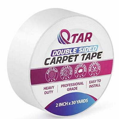Double Sided Carpet Tape Heavy Duty for Wood Floors 2 Inch X 30 Yards Rug Tap...