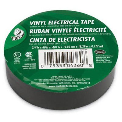 Duck 34 X 60 Ft. X .007 Utility Vinyl Electrical Tape Single Roll