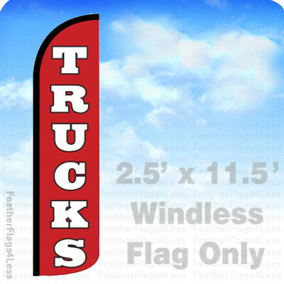 Trucks Windless Swooper Flag Feather Banner Auto Car Lot Dealer Sign 2.5x11.5 Rz