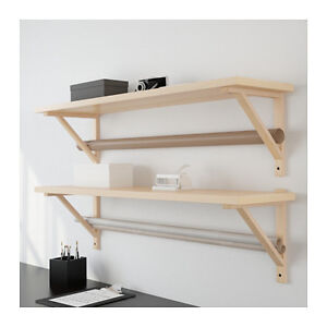 One EKBY JÄRPEN Ikea Birch Veneer Shelf, brackets and screws
