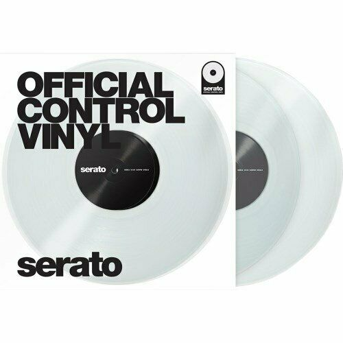Serato SCV-PS-CLE-7, 7-inch Control Vinyl Clear Pair