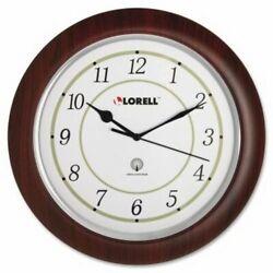 Lorell Wall Clock, Arabic Numerals, 13-1/2, White Dial/Woodgrain (LLR60986)