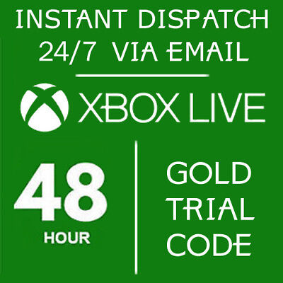Used, XBOX LIVE 48 HOUR 2 DAYS GOLD TRIAL CODE 48HR 2 DAY- INSTANT DISPATCH for sale  USA