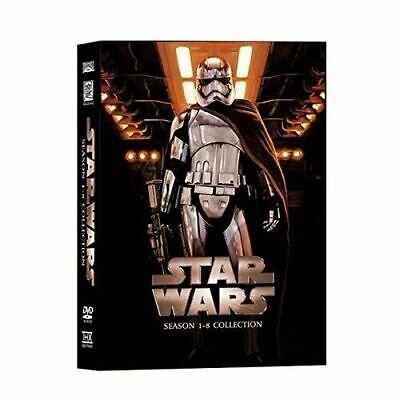 Star Wars Saga Movie Episodes Seasons 1-8 Complete DVD Set Collection (14-Disc)