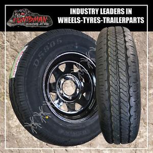 15 INCH FORD BLACK  steel wheel &195R15L/T tyre caravan/camper trailer. 195 15