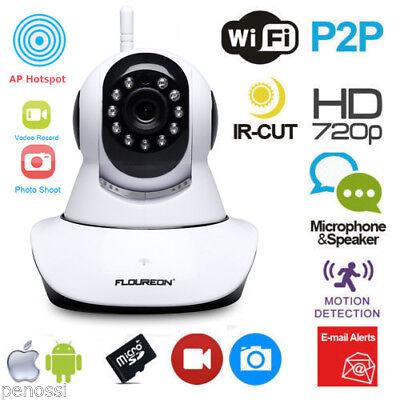 FLOUREON 720P Wifi 1.0 Megapixel Wireless CCTV Security IP Kamera Night vision