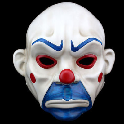 Resin Batman Joker Clown Bank Robber Masks The Dark Knight Scale Mask Costumes (Dark Knight Clown Mask)