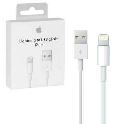 2M Genuine Lightning Charger USB Cable for iPhone 11 Pro Xs 8 7 6 5 SE 5C iPod